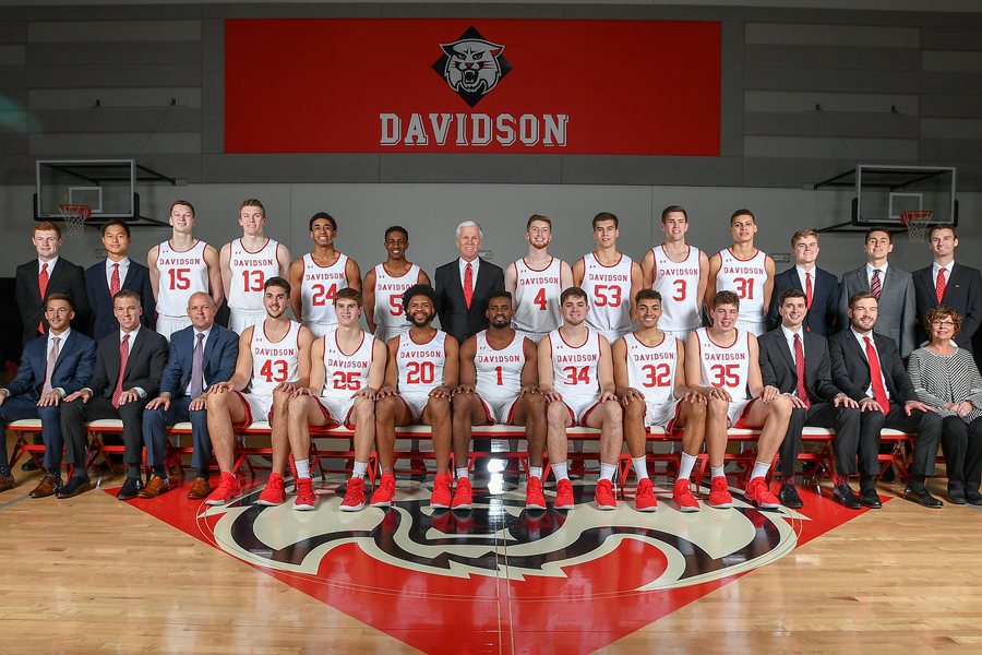 2018 19 men s basketball roster davidson college athletics